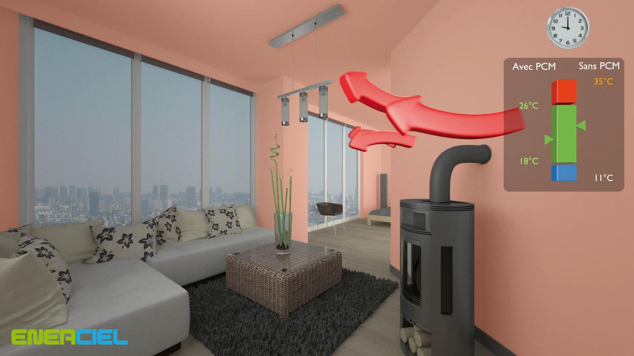 NOVO! ENERCIEL-zidni premaz koji akumulira i otpušta toplinu